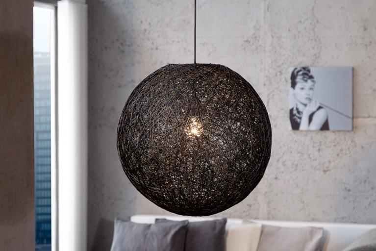 Stylische Hängeleuchte COCOON M in schwarz 35cm Lampe