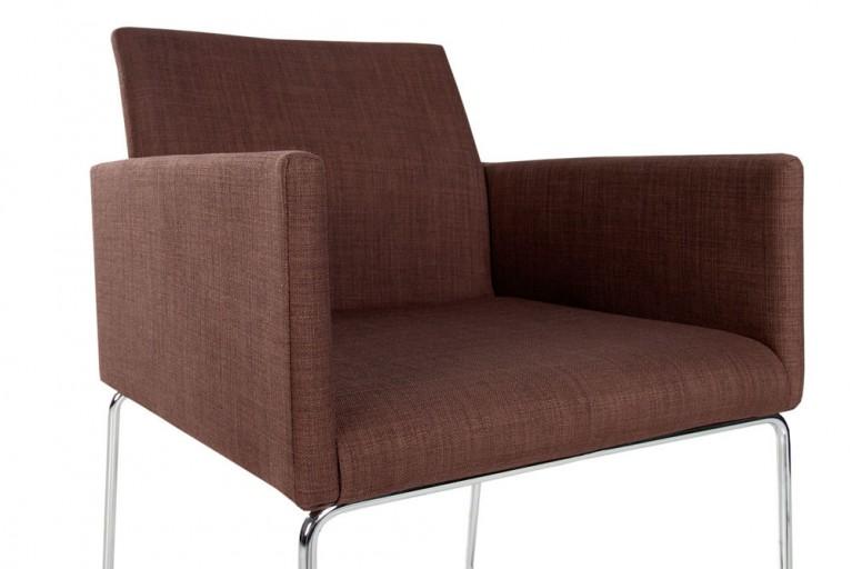 Eleganter Design Stuhl LIVORNO Strukturstoff coffee