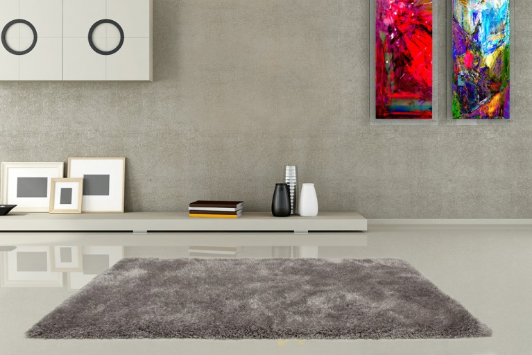 Design Hochflor Teppich SHAGGY DELUXE silber 160x230cm