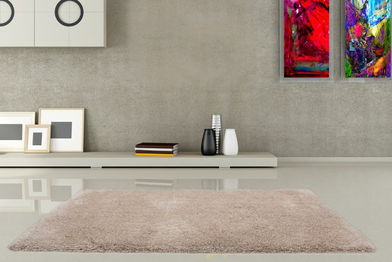 Design Hochflor Teppich SHAGGY DELUXE creme 160x230cm