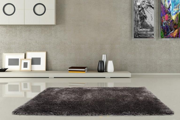 Design Hochflor Teppich SHAGGY DELUXE anthrazit 160x230cm