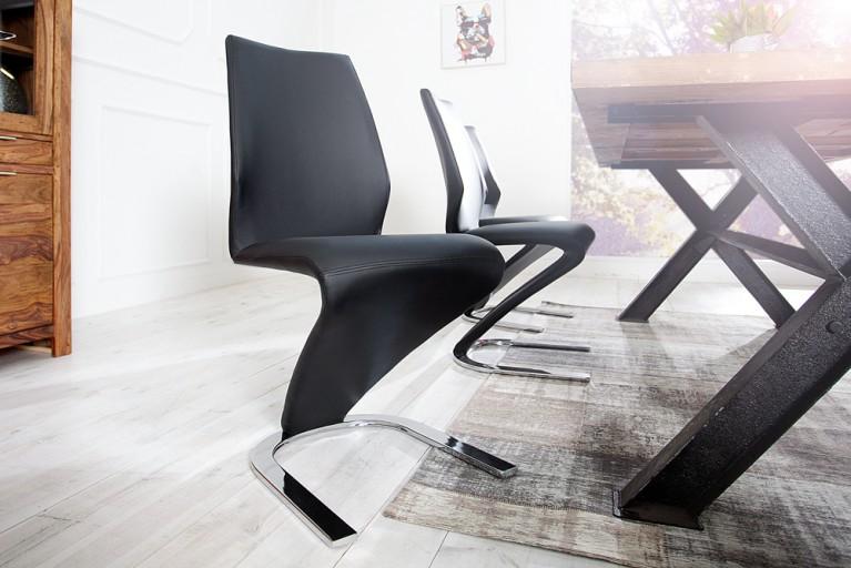 Eleganter Design Stuhl AIR II schwarz Freischwinger