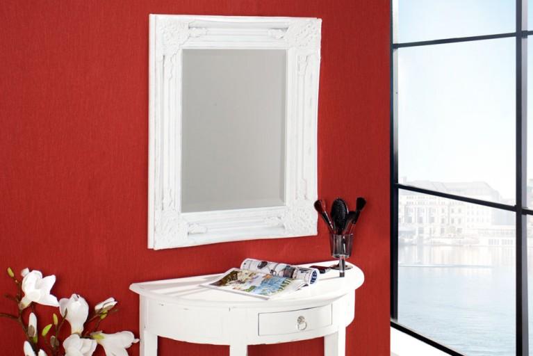 Filigraner Rockbarock Spiegel SPECULUM antik weiß 55x45cm Wandspiegel