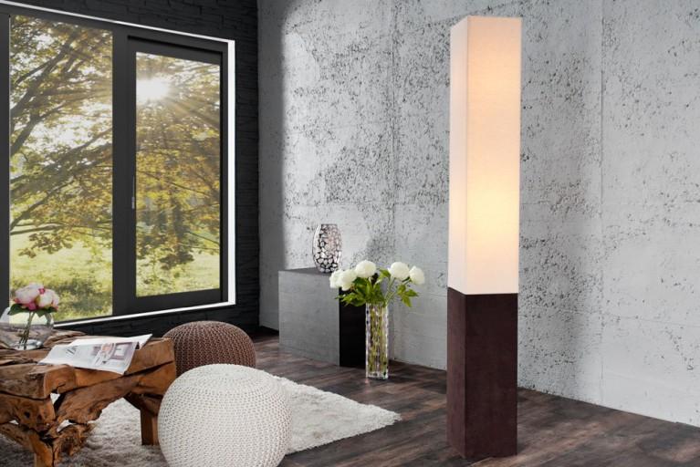 Design Stehleuchte PARIS CLASSIC mit hochwertigem Leinenstoff auf Standfuß