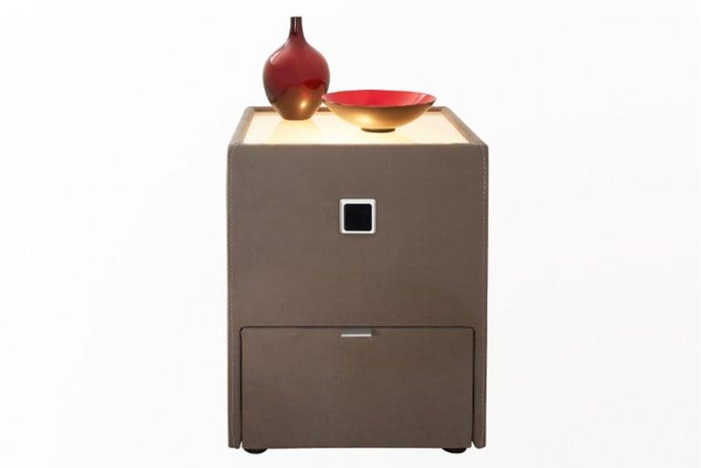 Design Nachtkommode PALERMO taupe mit Schublade