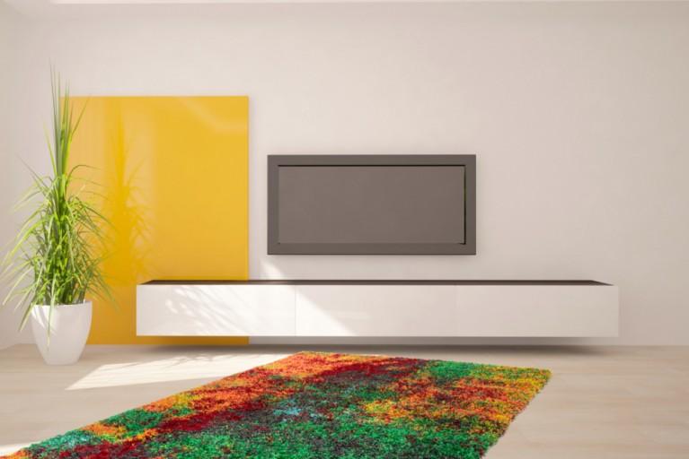 Design Hochflor Teppich PAINT 160x230cm bunt