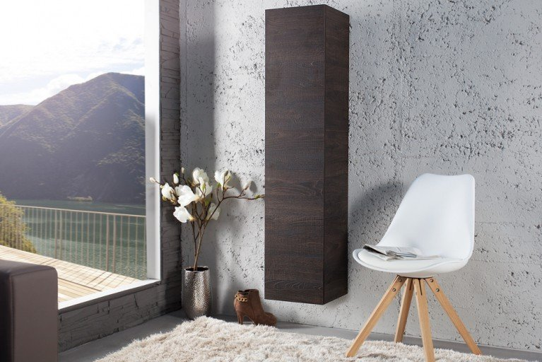 Moderner Design CUBE Eiche Wenge-Optik Wandregal Hängeschrank made in Italy