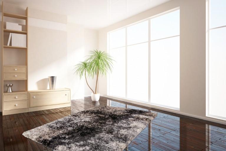 Design Hochflor Teppich PAINT 160x230cm anthrazit
