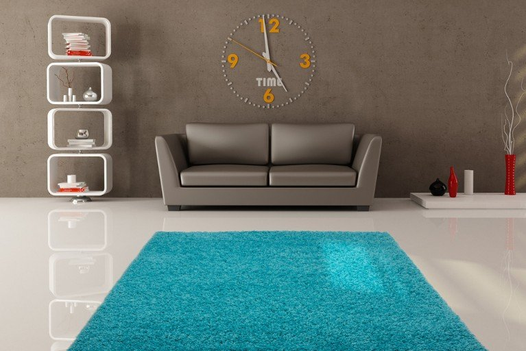 Design Hochflor Teppich SHAGGY aqua türkis 160x230cm