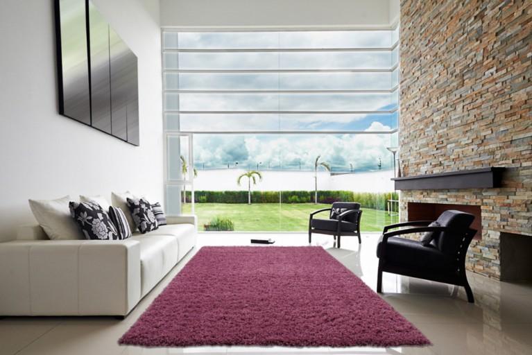 Design Hochflor Teppich SHAGGY pink 160x230cm
