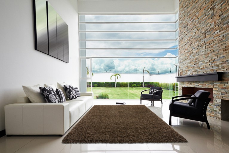 Design Hochflor Teppich SHAGGY braun 160x230cm