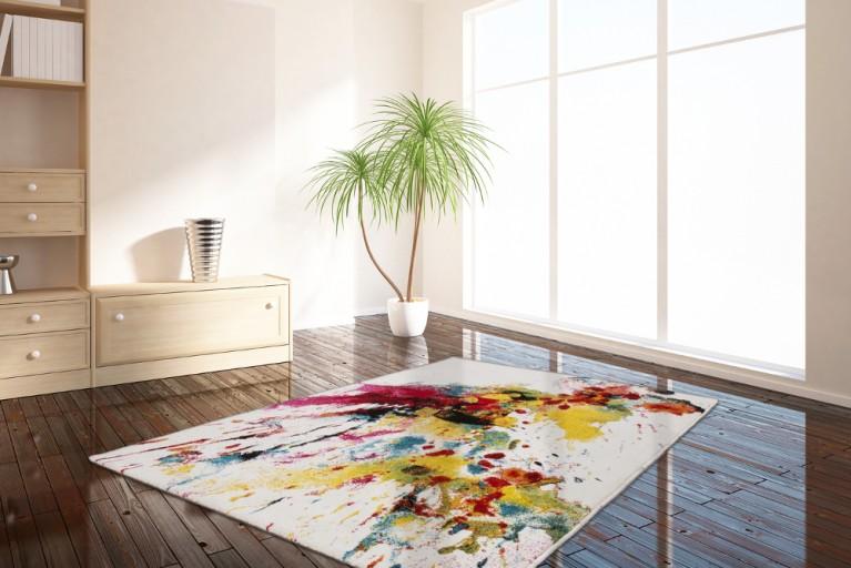 Einzigartiger Design Teppich VERNISSAGE 160x230cm Kunst