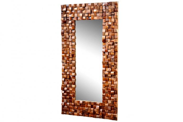 Design Spiegel MOSAIK aus Teakholz 100x180 cm Antik Look Spiegel
