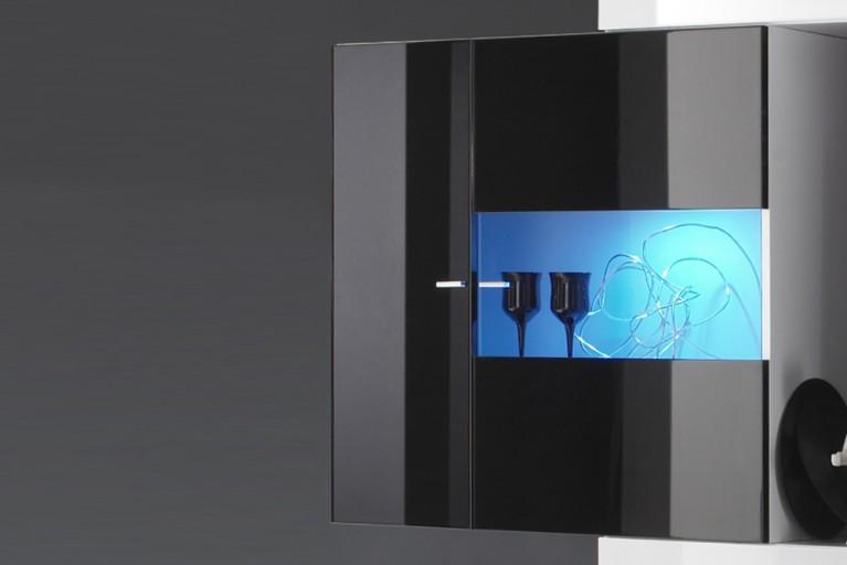 Beleuchtung zur Design Wohnwand MODERN ART