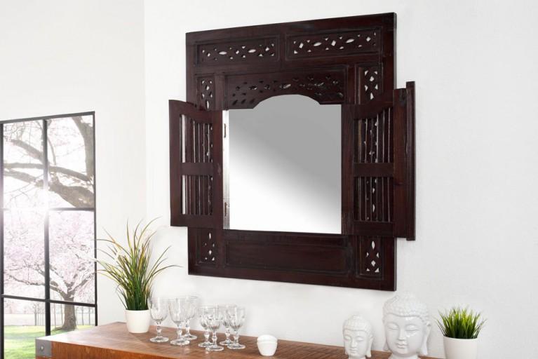 Spiegel SECRET WINDOW  Mahagoni mit Schnitzereien