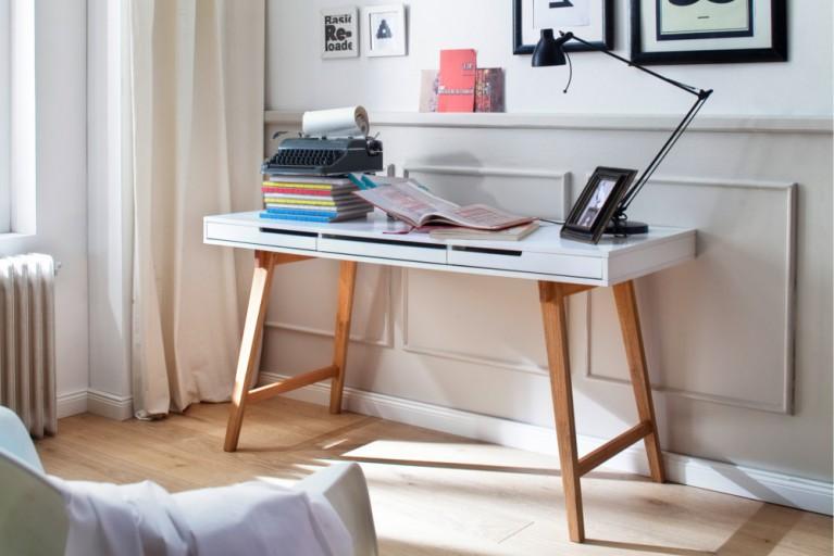 Eiche Massiv Schreibtisch Sekretär Konsole ANNEKE S 120cm