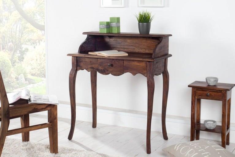 Sekretär HEMINGWAY Mahagoni Shabby Chic Coffee Schreibtisch