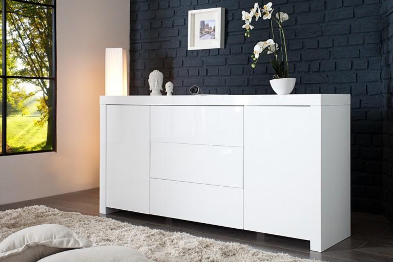Design Sideboard ICE weiß Hochglanz 160cm