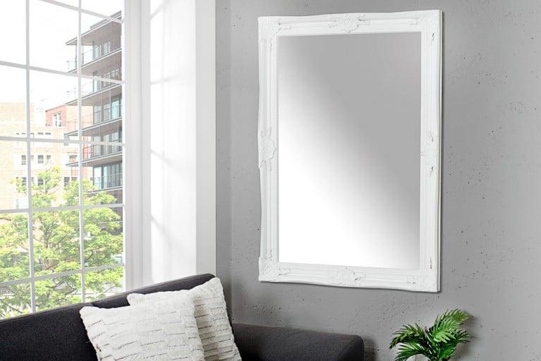Barock Spiegel RENAISSANCE weiß 105cm Wandspiegel