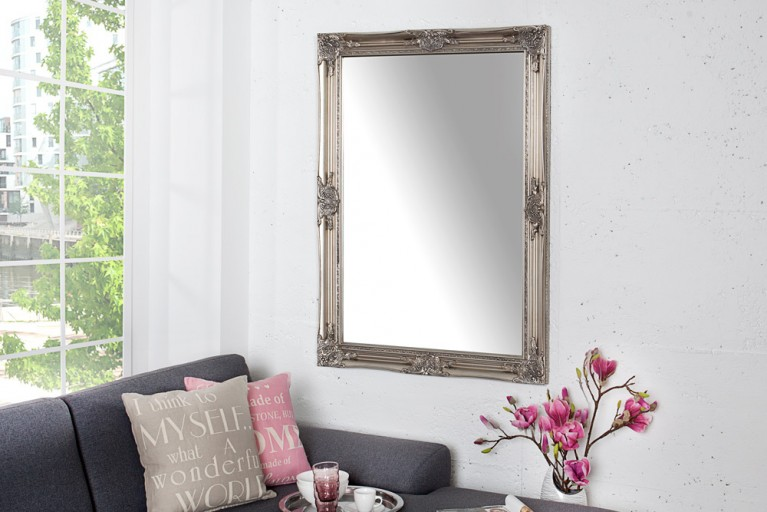 Barock Spiegel RENAISSANCE silber 105cm Wandspiegel