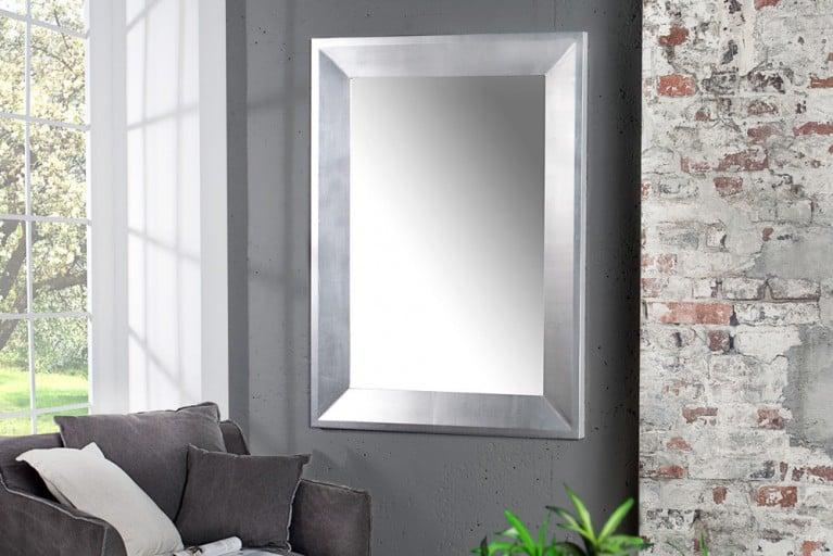 Design Spiegel BARCA silber 110x90cm