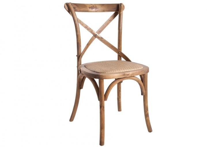 Hochwertiger Massiver Eiche Stuhl MAISON DE PLAISANCE Retro natur