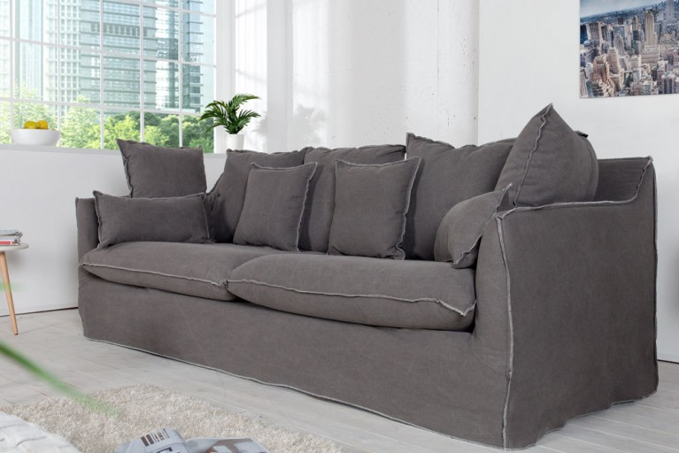 3 sitzer hussensofa heaven 215 cm beige riess. Black Bedroom Furniture Sets. Home Design Ideas