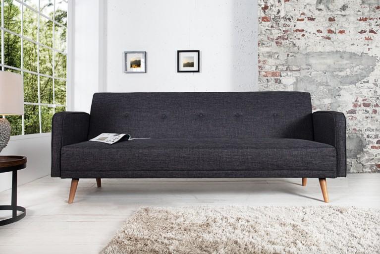 Design Schlafsofa SCANDINAVIA anthrazit mit hochwertigem Aufbau in 210cm