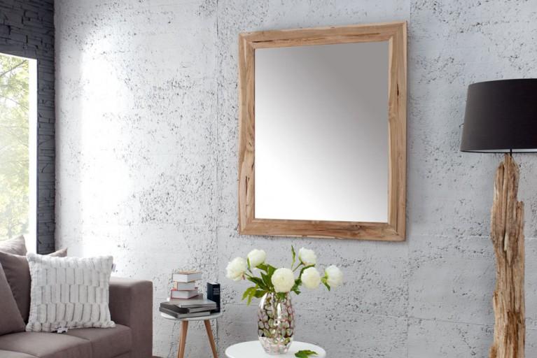 Exklusiver Spiegel FRAME aus unbehandeltem Teakholz 120cm