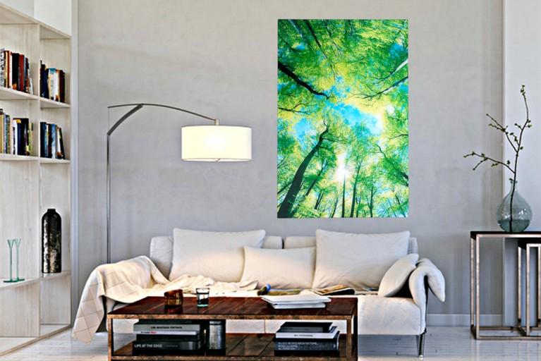 Faszinierender Kunstdruck WOODS 120x80cm Wandbild aus Glas
