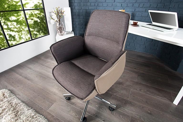 Exklusiver Design Bürostuhl COMFORT greige Chefsessel