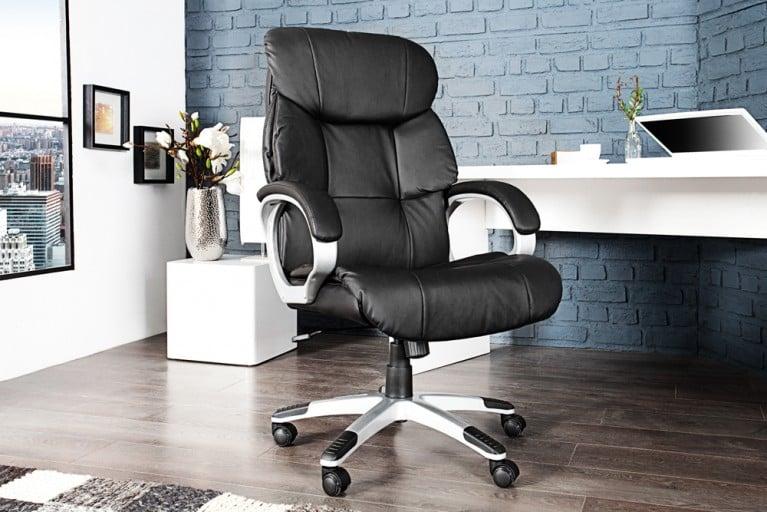 Design Bürodrehstuhl STRONG XXL schwarz Chefsessel bis 150 Kg mit Armlehnen