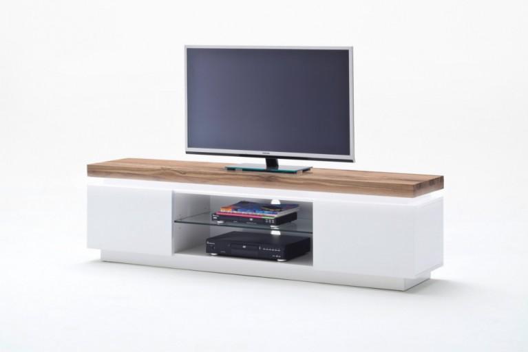 TV-Lowboard ROMINA ORIGINAL MCA 175cm mit massiver Asteiche und dimmbarer LED Beleuchtung