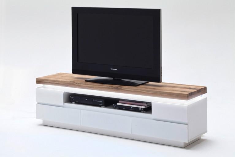 TV-Lowboard ROMINA ORIGINAL MCA 175cm mit massiver Asteiche und LED Beleuchtung inkl. 5 Schubladen