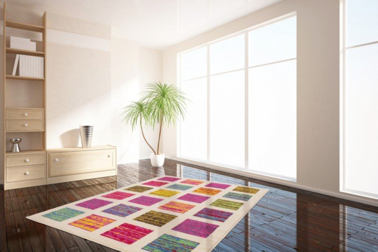 Design POP ART Teppich IVORY SQUARE 160x230cm