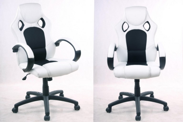 Exklusiver Design Chefsessel Bürostuhl RICKY ORIGINAL MCA weiß schwarz