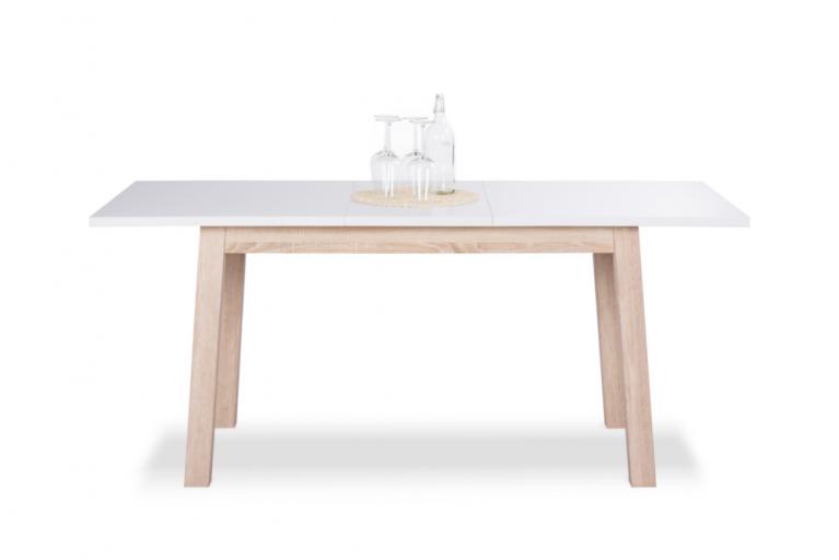 Ausziehbarer Design Esstisch STOCKHOLM Weiß 140-180cm