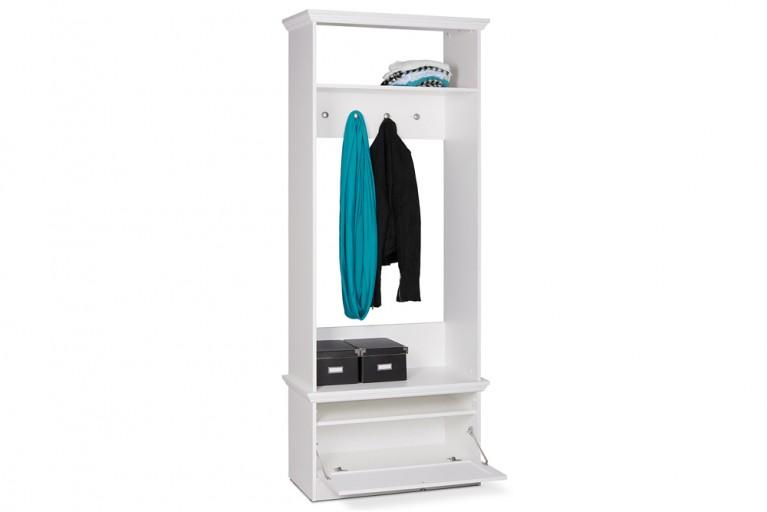 Klassische Garderobe PROVENCE Weiß 200cm im Landhausstil