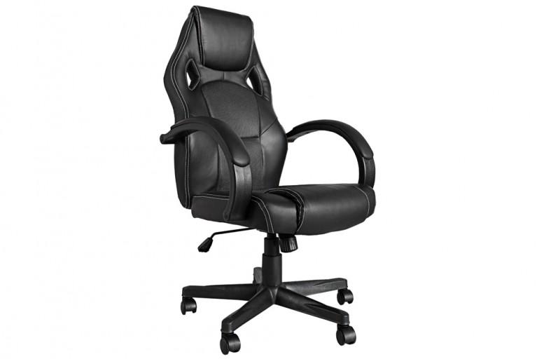 Exklusiver Design Chefsessel RACE schwarz silber Bürostuhl