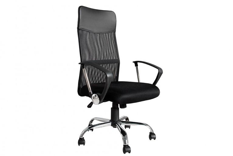Exklusiver Design Chefsessel Bürostuhl COMMANDER schwarz