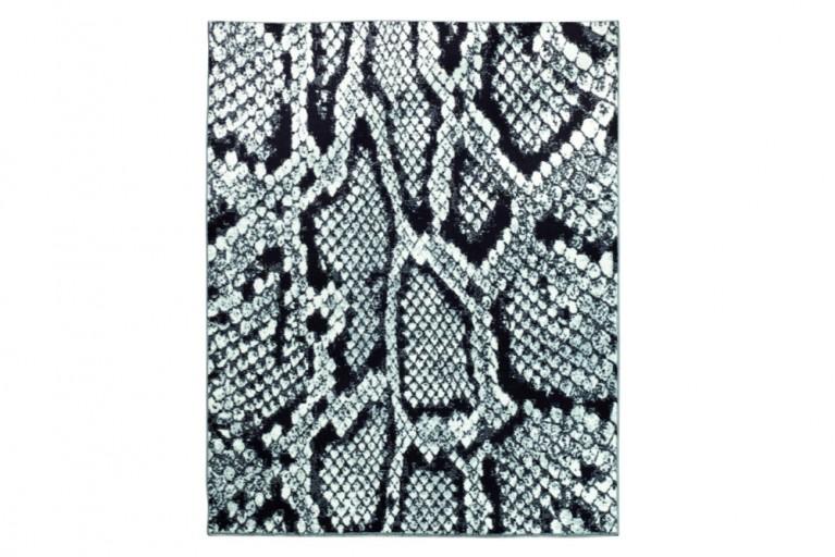 Einzigartiger Design Teppich ANACONDA 160x225cm weiß schwarz