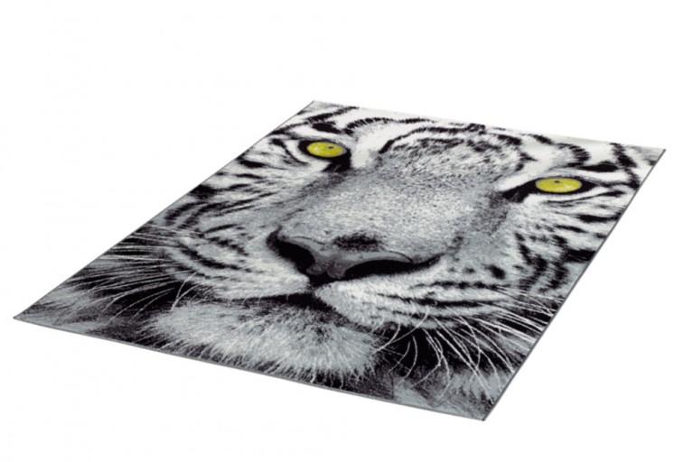 Großartiger Design Teppich FIXION 160x225cm weiß schwarz grün