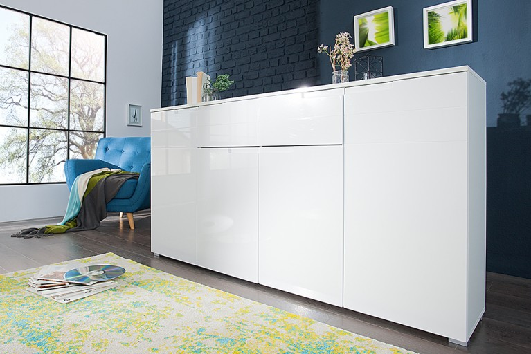 Design Sideboard CLUB 180cm weiß High Gloss