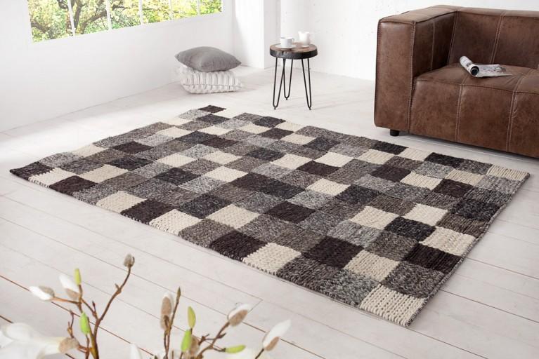 Großer Design Teppich IMPRESSION 160x230cm in Handarbeit gefertigt