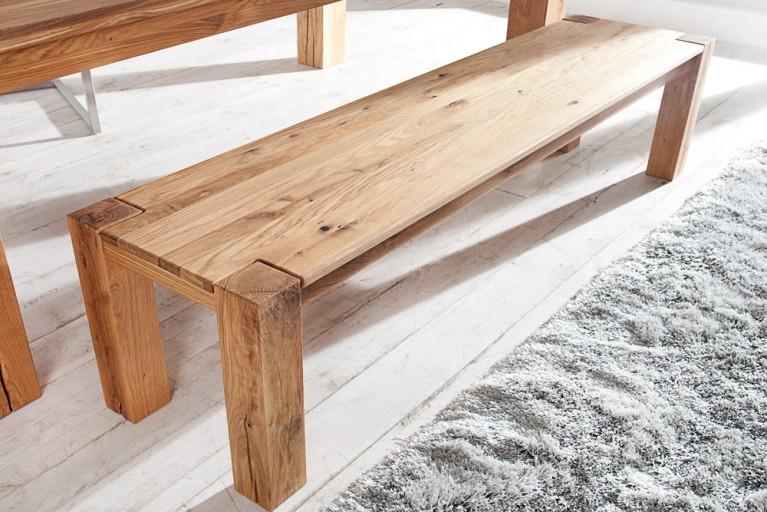 Massive Sitzbank WILD OAK 160cm geölt hochwertige Wildeiche made in EU