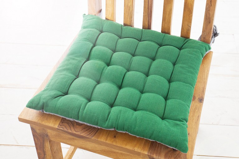 Design Sitzkissen SUMMER 40x40cm 2-farbig oliv-grün grau