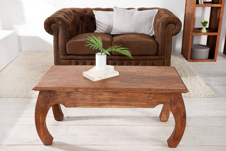 Opium Couchtisch MONSOON 100cm Massiv Akazie Markant Finish