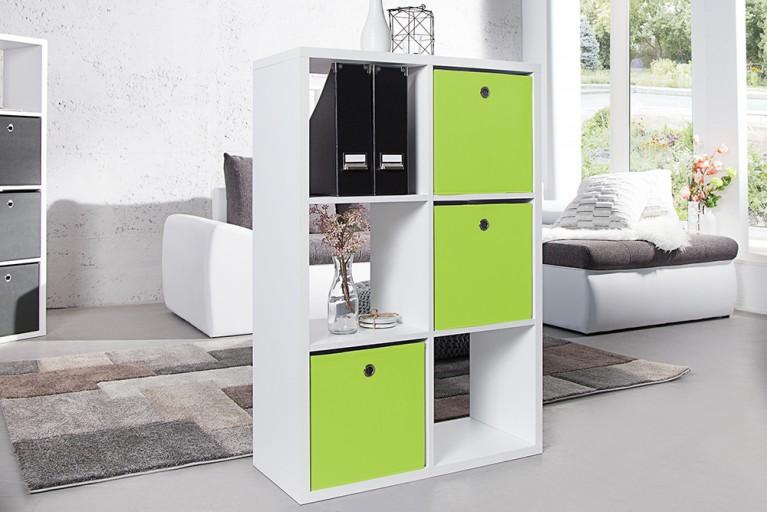 Praktische Faltbox SQUARE 32cm Aufbewahrungsbox Stauraumlösung grün lime 3er Set