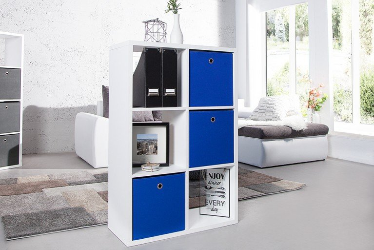 Praktische Faltbox SQUARE 32cm Aufbewahrungsbox Stauraumlösung blau 3er Set