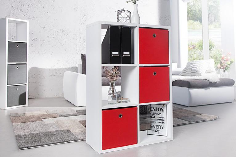 Praktische Faltbox SQUARE 32cm Aufbewahrungsbox Stauraumlösung rot 3er Set